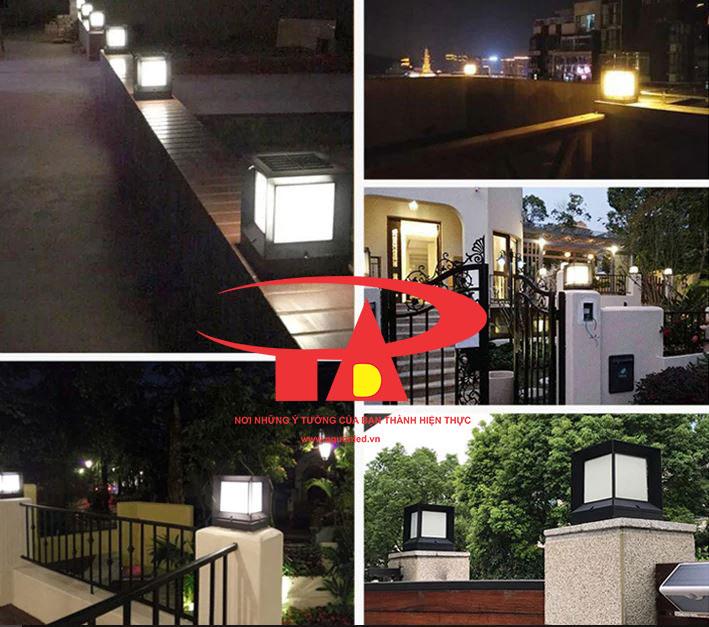 đèn trụ cổng năng lượng mặt trời chiếu sáng đường phố, lối đi