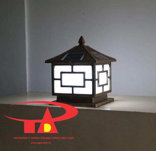 đèn trụ cổng năng lượng mặt trời nhập khẩu, giá rẻ