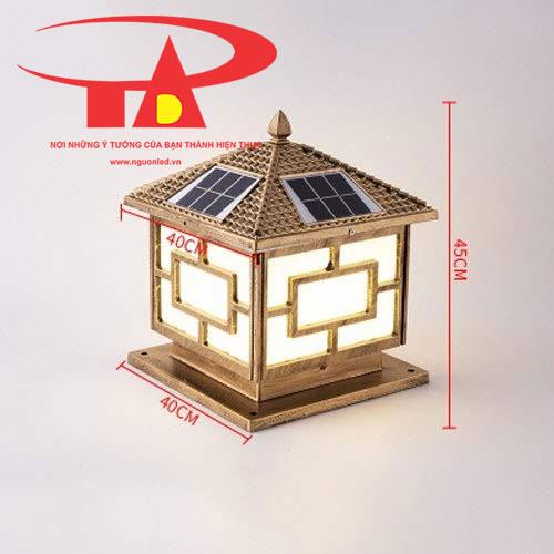 đèn trang trí cổng trụ chạy bằng năng lượng mặt trời giá tốt tại TPHCM