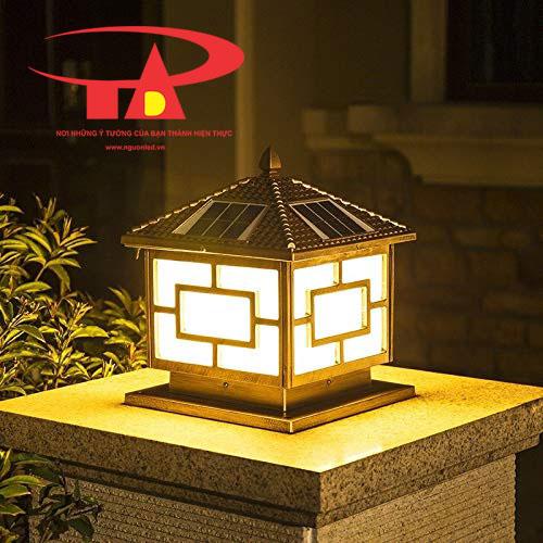 đèn trụ cổng năng lượng mặt trời thông minh, loại tốt