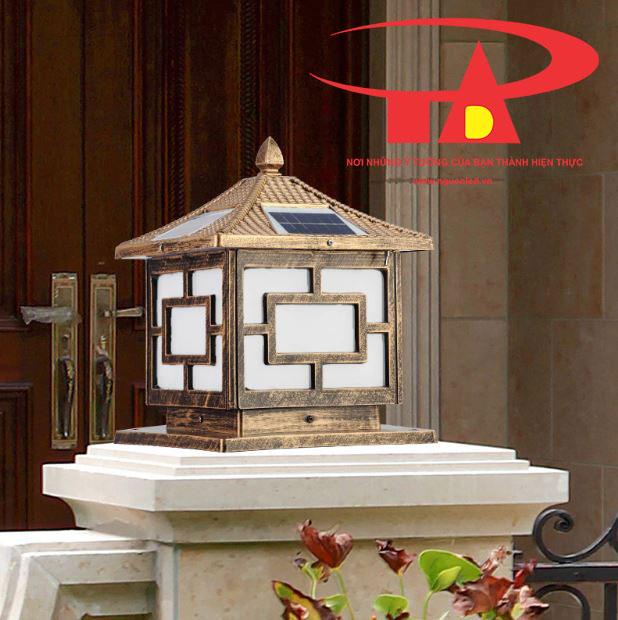 đèn trụ cổng năng lượng mặt trời tiết kiệm điện