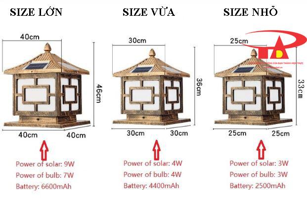 đèn trụ cổng năng lượng mặt trời loại tốt, siêu bền