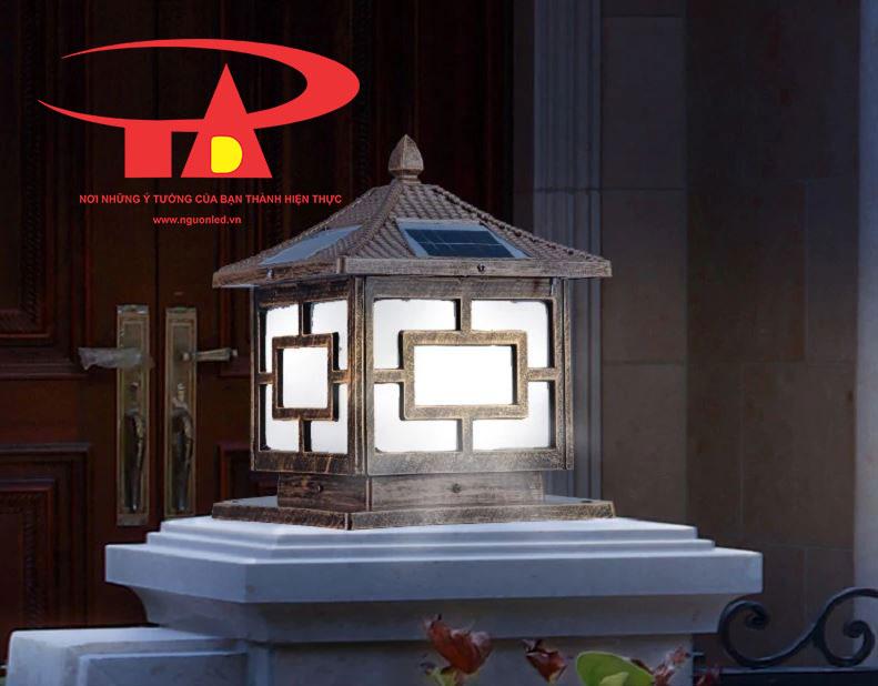 đèn trụ cổng năng lượng mặt trời chiếu sáng ban công