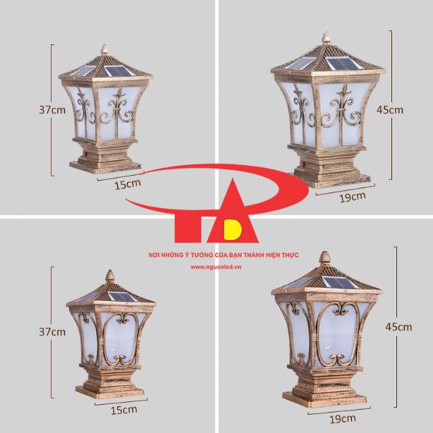 đèn cổng trụ năng lượng mặt trời An Đức Phát giá rẻ, hiện đại