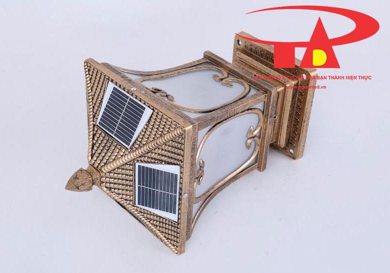 đèn cổng trụ năng lượng mặt trời giá rẻ, thân thiện môi trường
