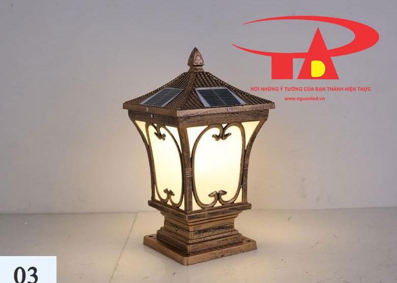 đèn trụ cổng năng lượng mặt trời tiết kiệm điện, thân thiện môi trường