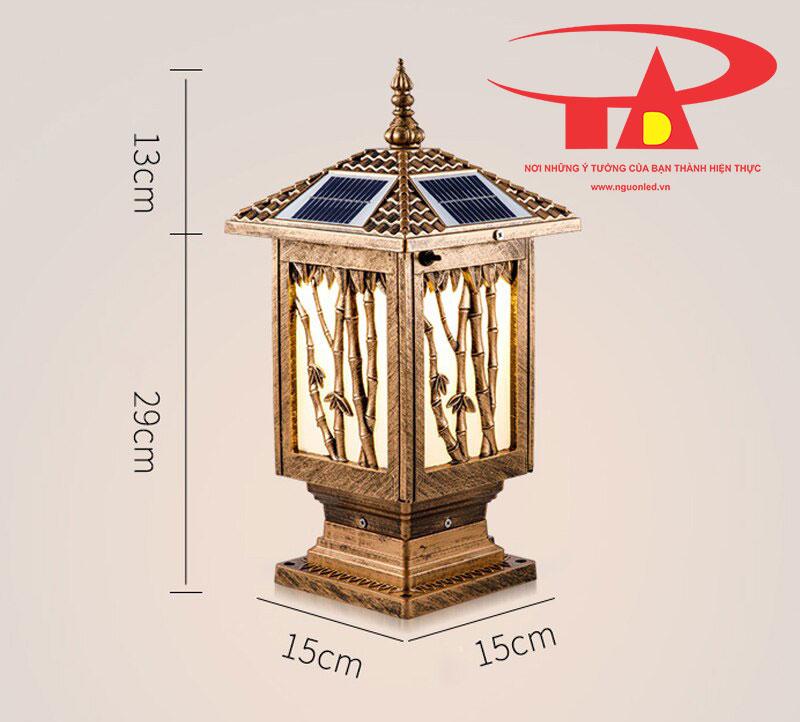 đèn trụ cổng NLMT nhập khẩu, siêu bền