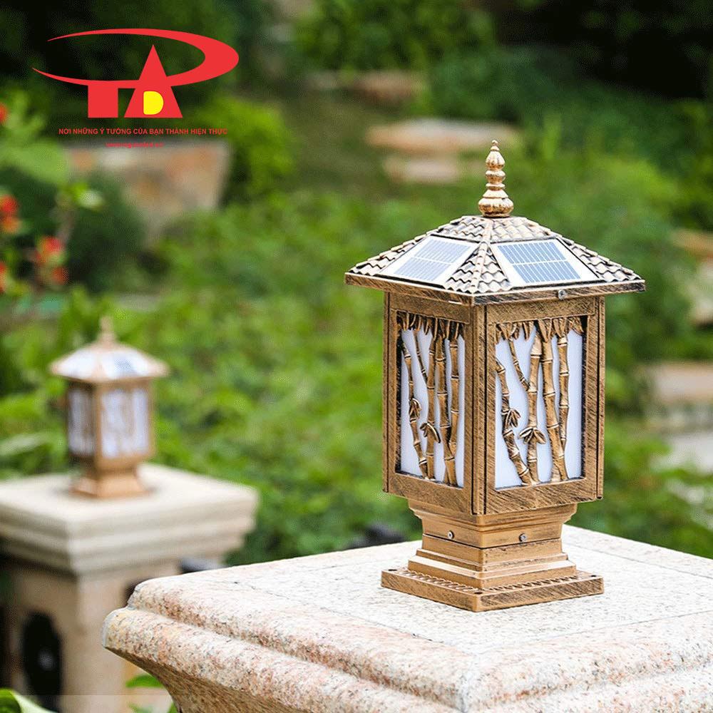 đèn trụ cổng năng lượng mặt trời chiếu sáng hàng rào