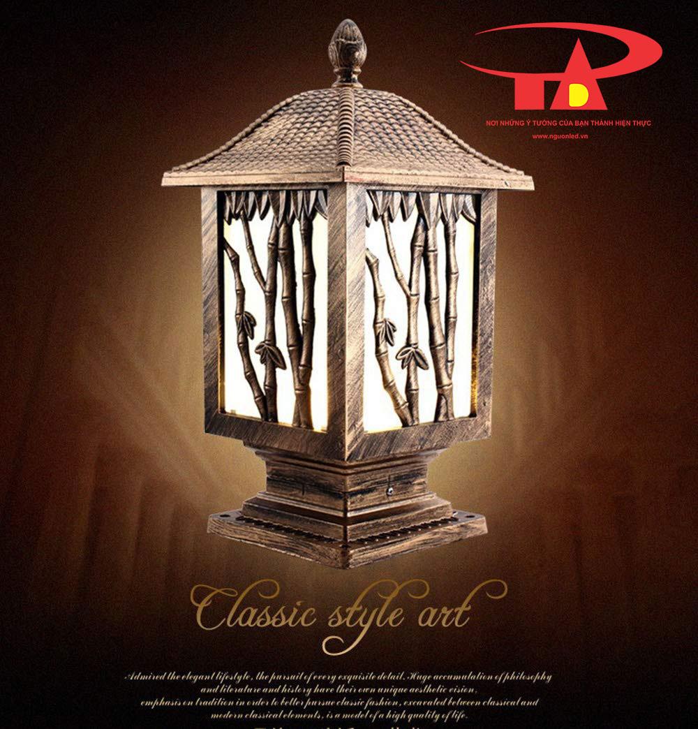 đèn trụ cổng năng lượng mặt trời tiết kiệm điện, chất lượng cao tại TPHCM