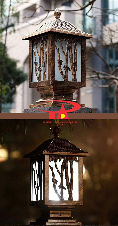 nguyên lý hoạt động của đèn trụ cổng NLMT chống thấm nước