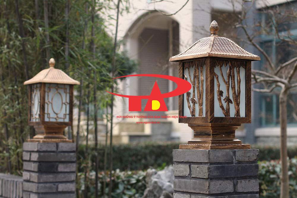 đèn trụ cổng năng lượng mặt trời chiếu sáng cổng trụ