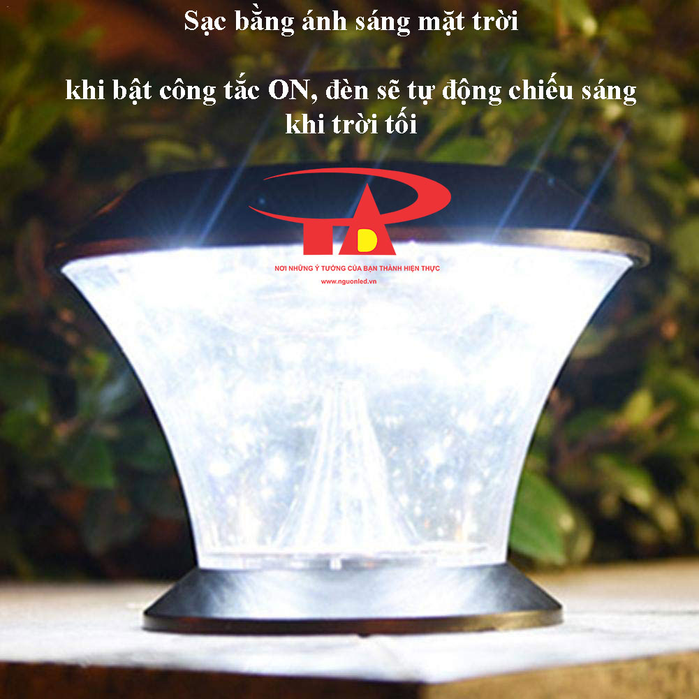 đèn trụ cổng năng lượng mặt trời chống thấm nước, thân thiện môi trường