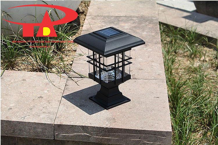 đèn trụ cổng năng lượng mặt trời chiếu sáng sân vườn, lối đi