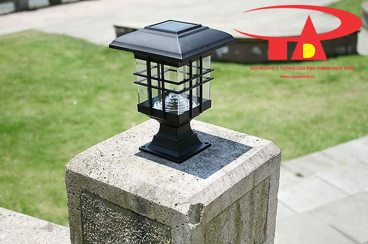 đèn trụ cổng năng lượng mặt trời giá rẻ, tiết kiệm điện