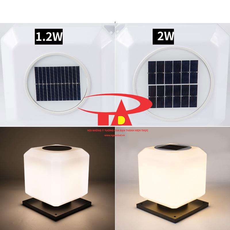 đèn trụ cổng năng lượng mặt trời chất lượng cao, hiệu suất tốt
