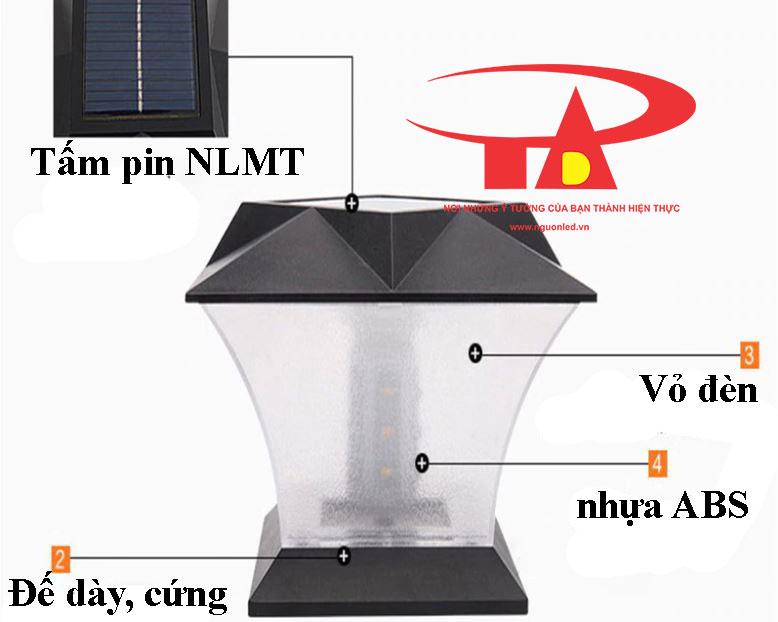 đèn trụ cổng NLMT giá rẻ, chiết khấu cao, loại tốt