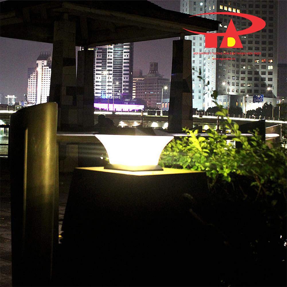 đèn trụ cổng NLMT chiết khấu cao, chiếu sáng khu du lịch