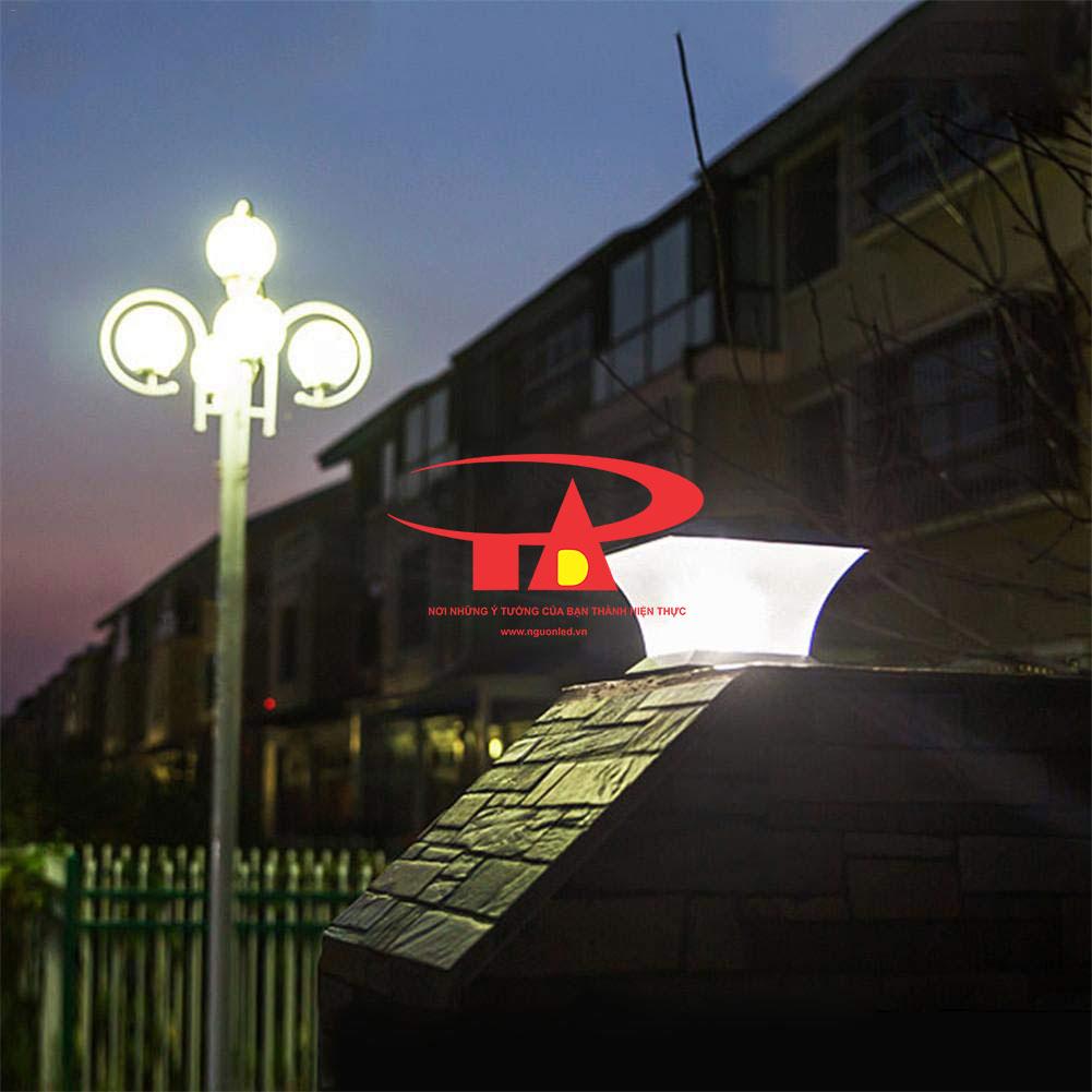 đèn trụ cổng NLMT chống thấm nước, chất lượng tốt