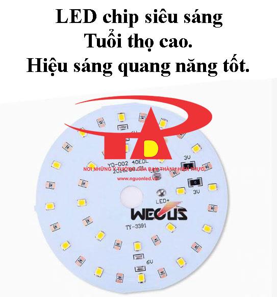 đèn trụ cổng nlmt chip led cao cấp, siêu sáng