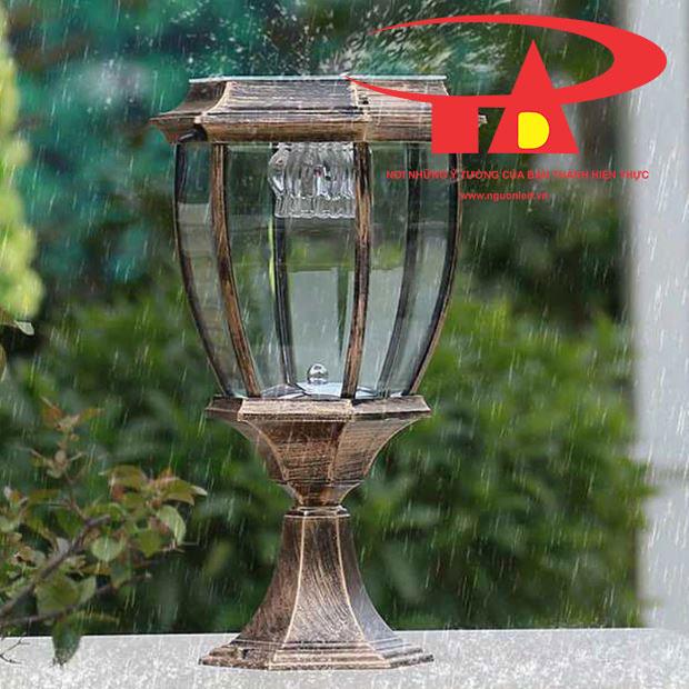 đèn trụ cổng NLMT giá rẻ, chiếu sáng bền bỉ