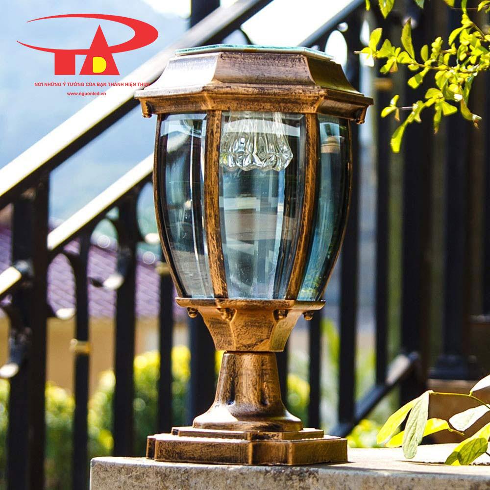 đèn trụ cổng nlmt chiếu sáng lối đi, khuôn viên