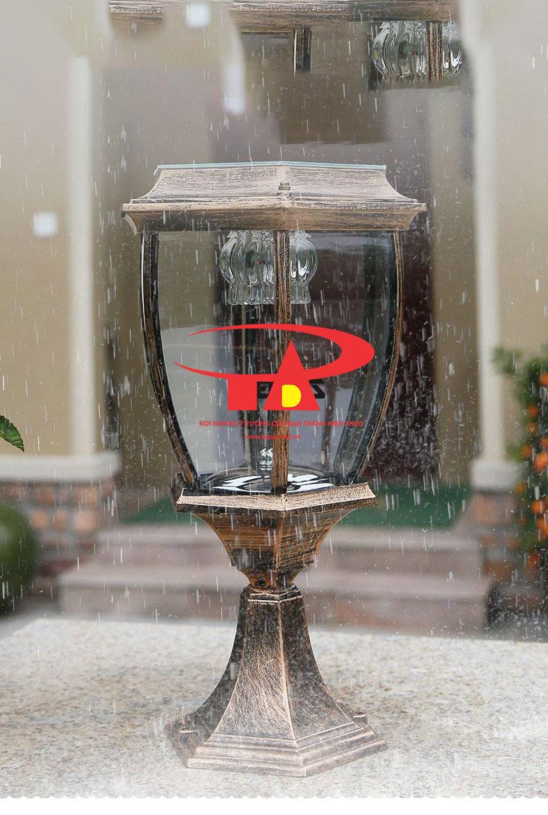 đèn trụ cổng nlmt chống thấm nước