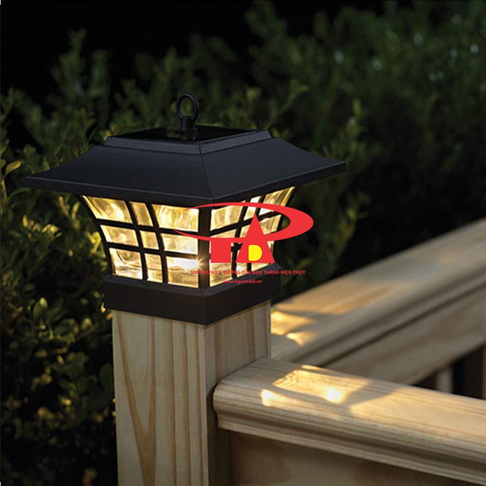 đèn trụ cổng năng lượng mặt trời mẫu mã đẹp, chiết khấu cao