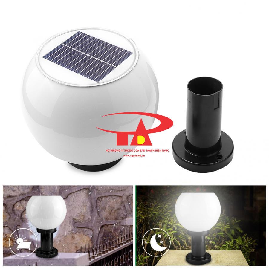 nguyên lý hoạt động đèn trụ cổng NLMT chống thấm nước