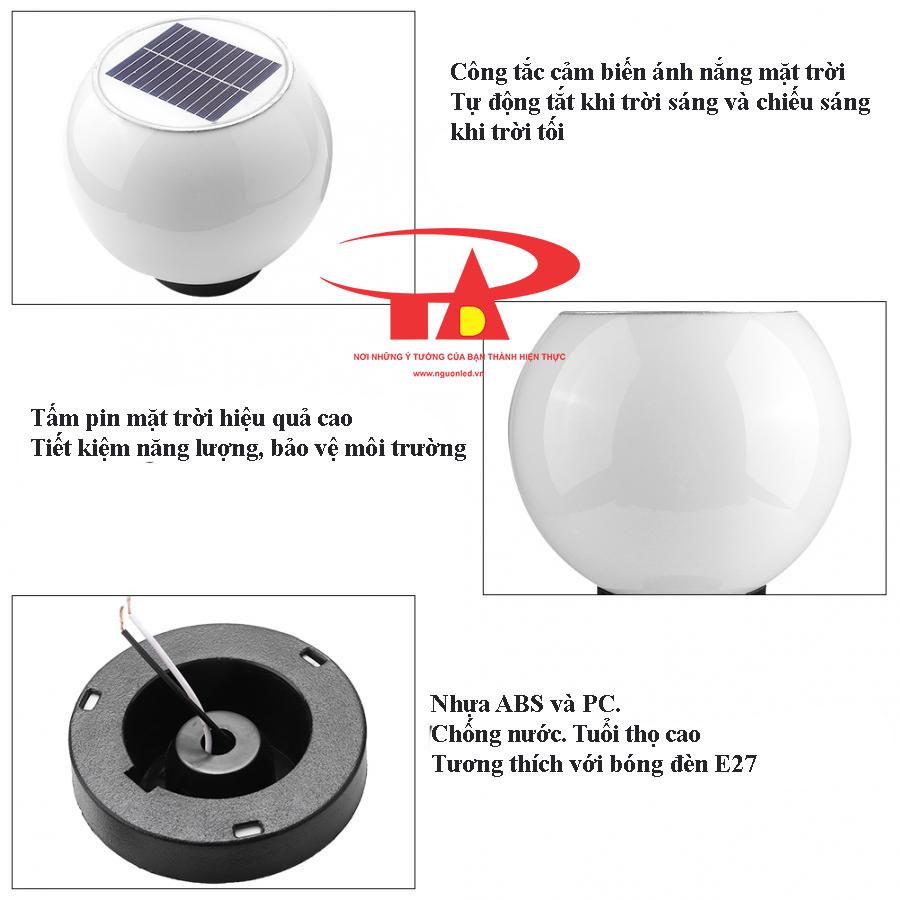 ưu điểm đèn tru cổng năng lượng mặt trời mẫu mã đẹp
