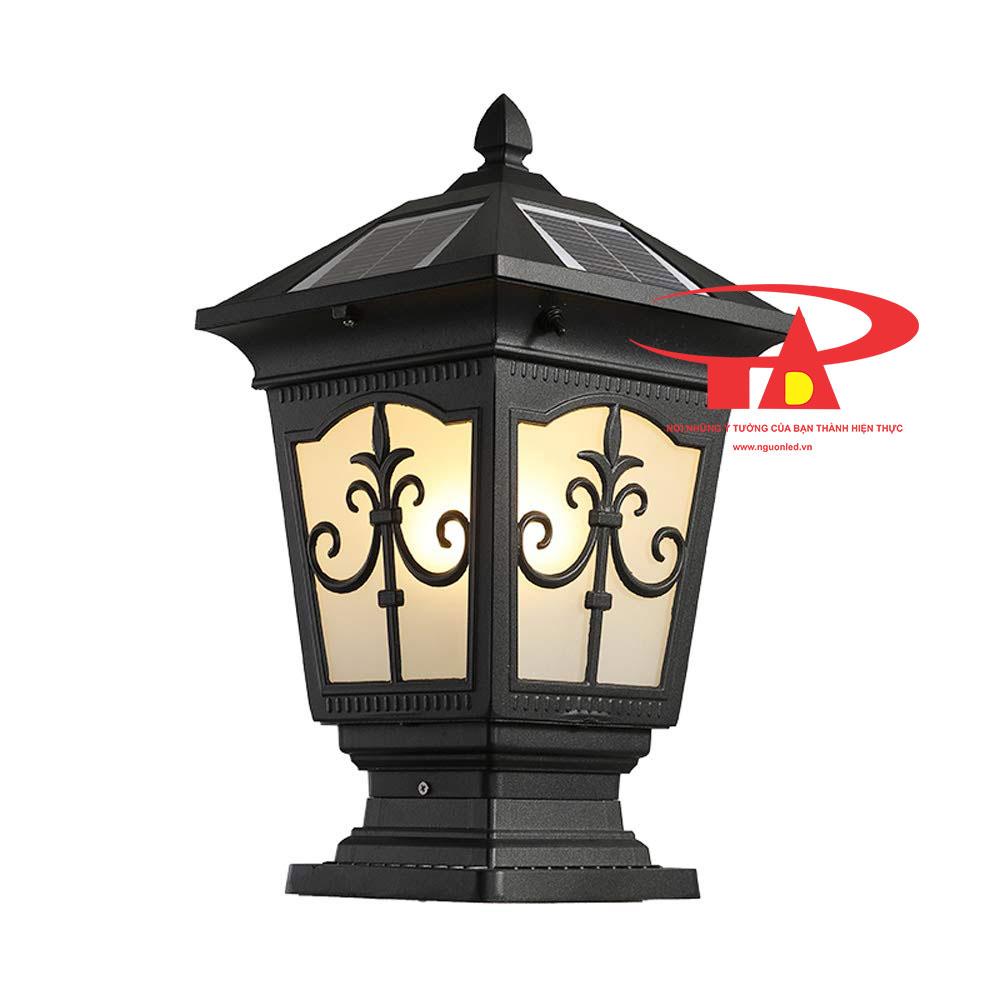 đèn trụ cổng NLMT giá rẻ, tiết kiệm điện