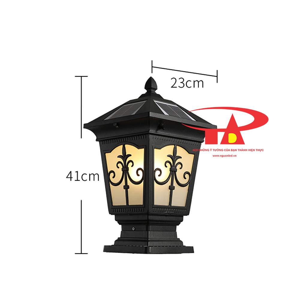 đèn trụ cổng NLMT giá rẻ, siêu bền, chống thấm nước