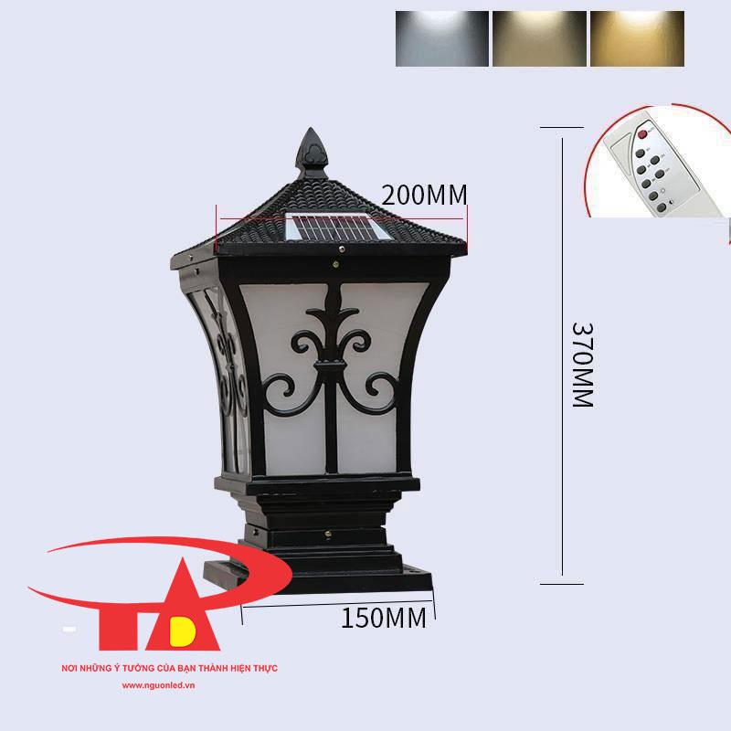 đèn trụ cổng nlmt chiếu sáng mặt tiền đô thị