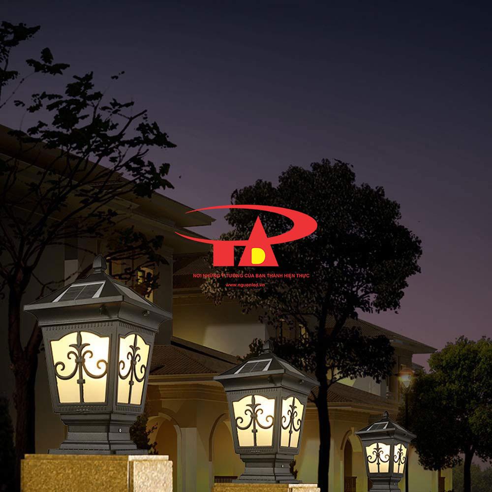 đèn trụ cổng NLMT giá rẻ, hiện đại, tiết kiệm điện