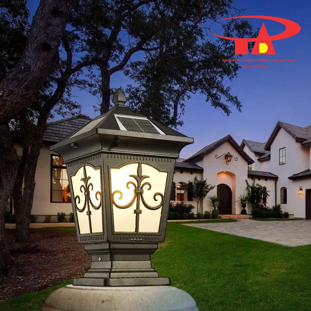 đèn trụ cổng NLMT chiếu sáng khu du lịch, khu sinh thái