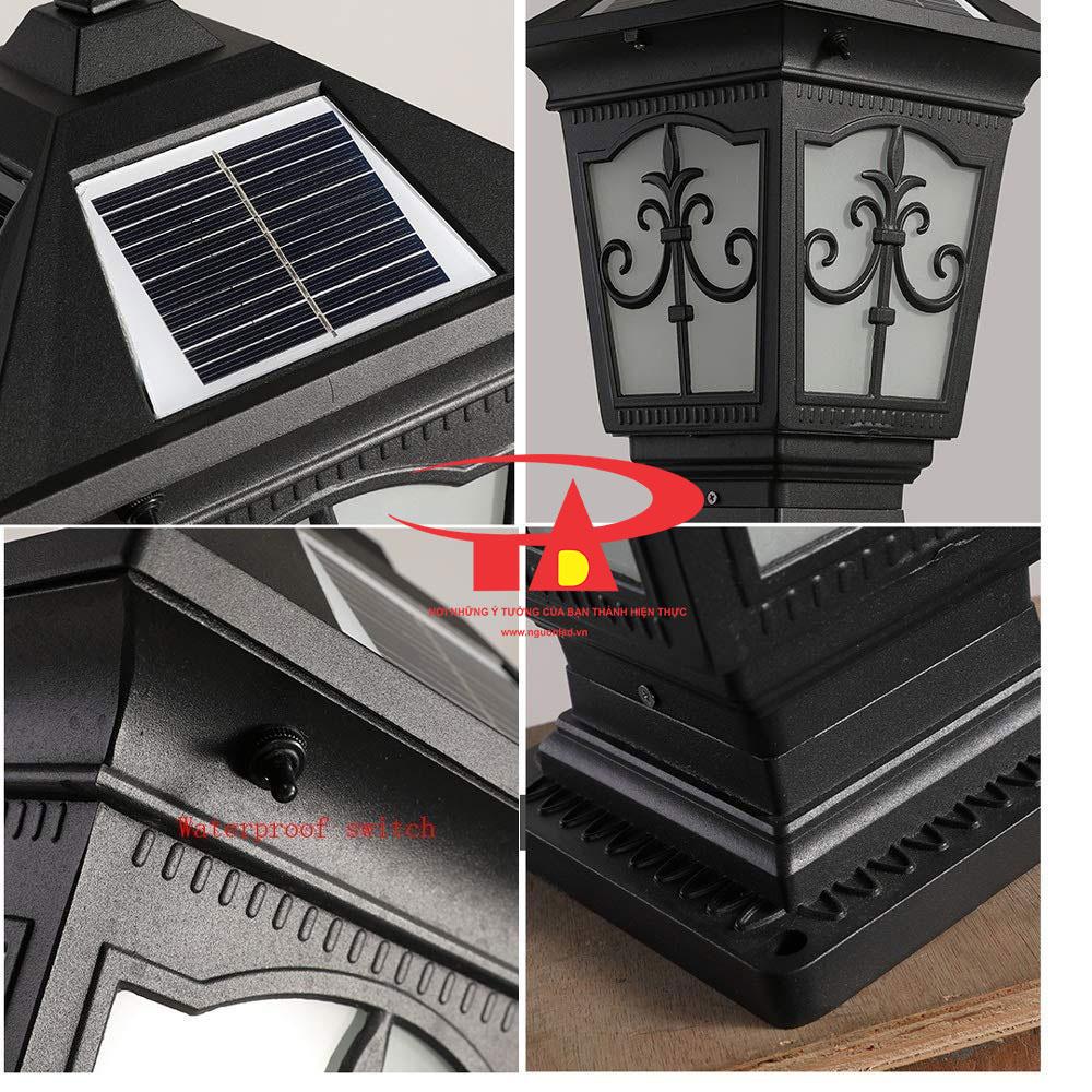 đèn trang trí cổng trụ nlmt chiếu sáng sân vườn