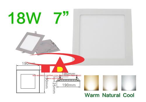 Đèn led âm trần siêu mỏng dùng cho xây dựng, mua tại nguonled.vn