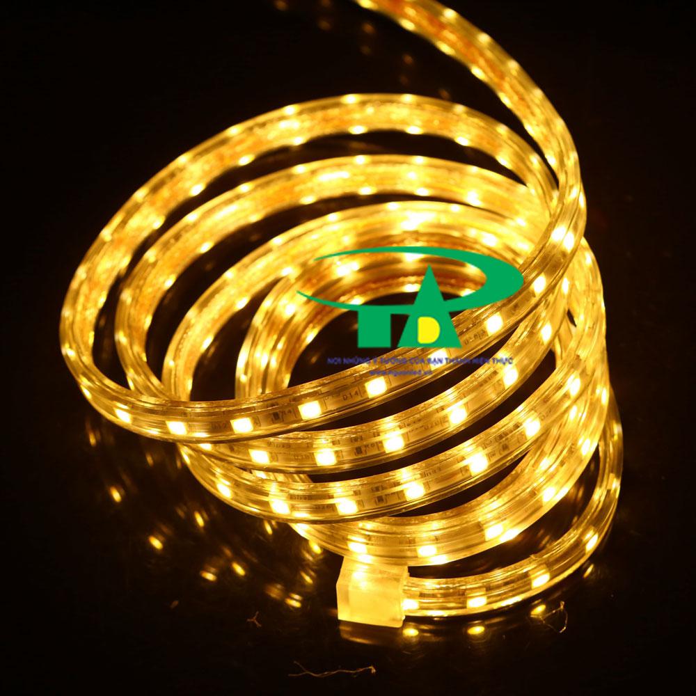 Đèn led dây 5050 ánh sáng vàng cuộn 100m 220V loại tốt