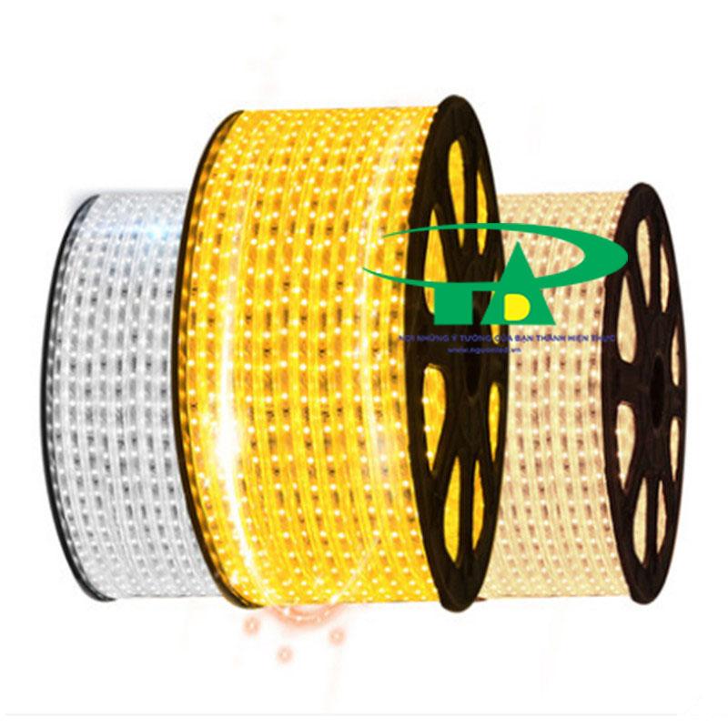 Đèn led dây 5050 ánh sáng trắng, vàng, vàng ấm cuộn 100m 220V loại tốt