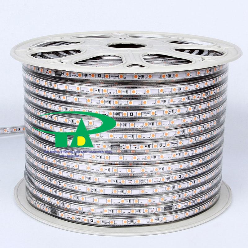 Đèn led dây 220V chip led 5050 loại tốt, dùng chiếu sáng nội thất, ngoại thất