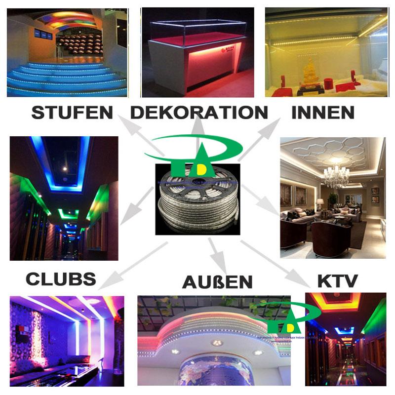 Ứng dụng của đèn led dây 5050 màu hồng trong chiếu sáng nội thất, quầy bar, quán cà phê, karaoke, khách sạn, nhà hàng