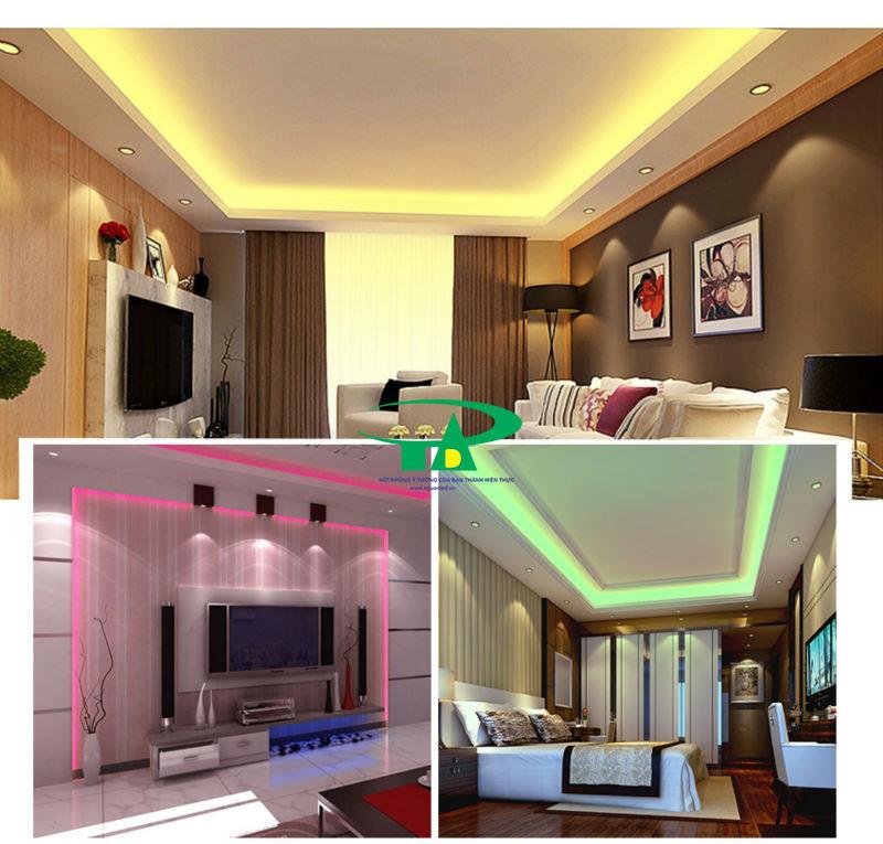 Ứng dụng của đèn led dây 5050 dùng trong thi công nội thất, hắt trần thạch cao