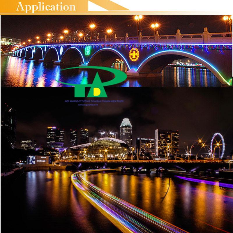 Ứng dụng của đèn led dây 5050 dùng trong thi công cầu đường, chiếu sáng chân cầu, đường