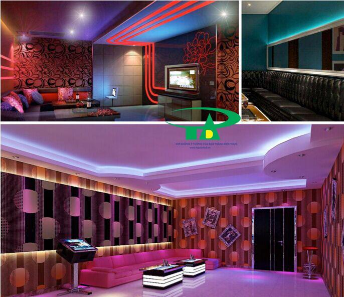 DÙng đèn led đây để chiếu sáng nội thất, phòng khách, phòng ngủ, quầy bar, hắt trần