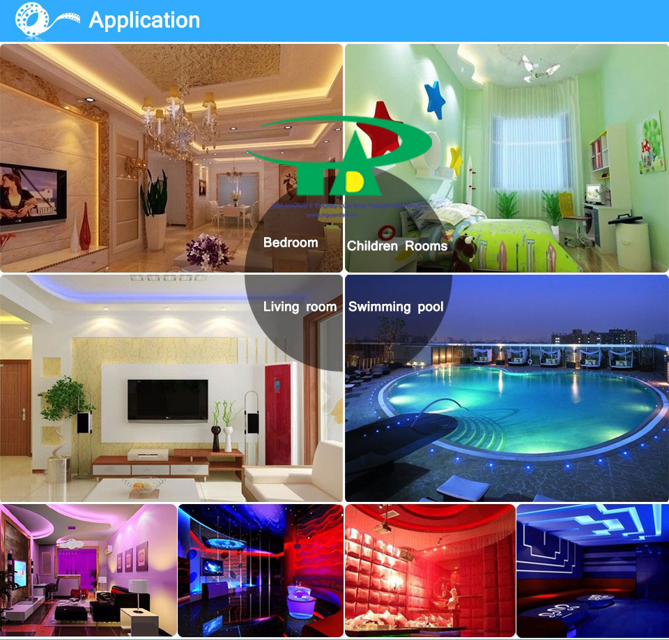Dùng đèn led đây để chiếu sáng nội thất, phòng khách, phòng ngủ, quầy bar, hồ bơi