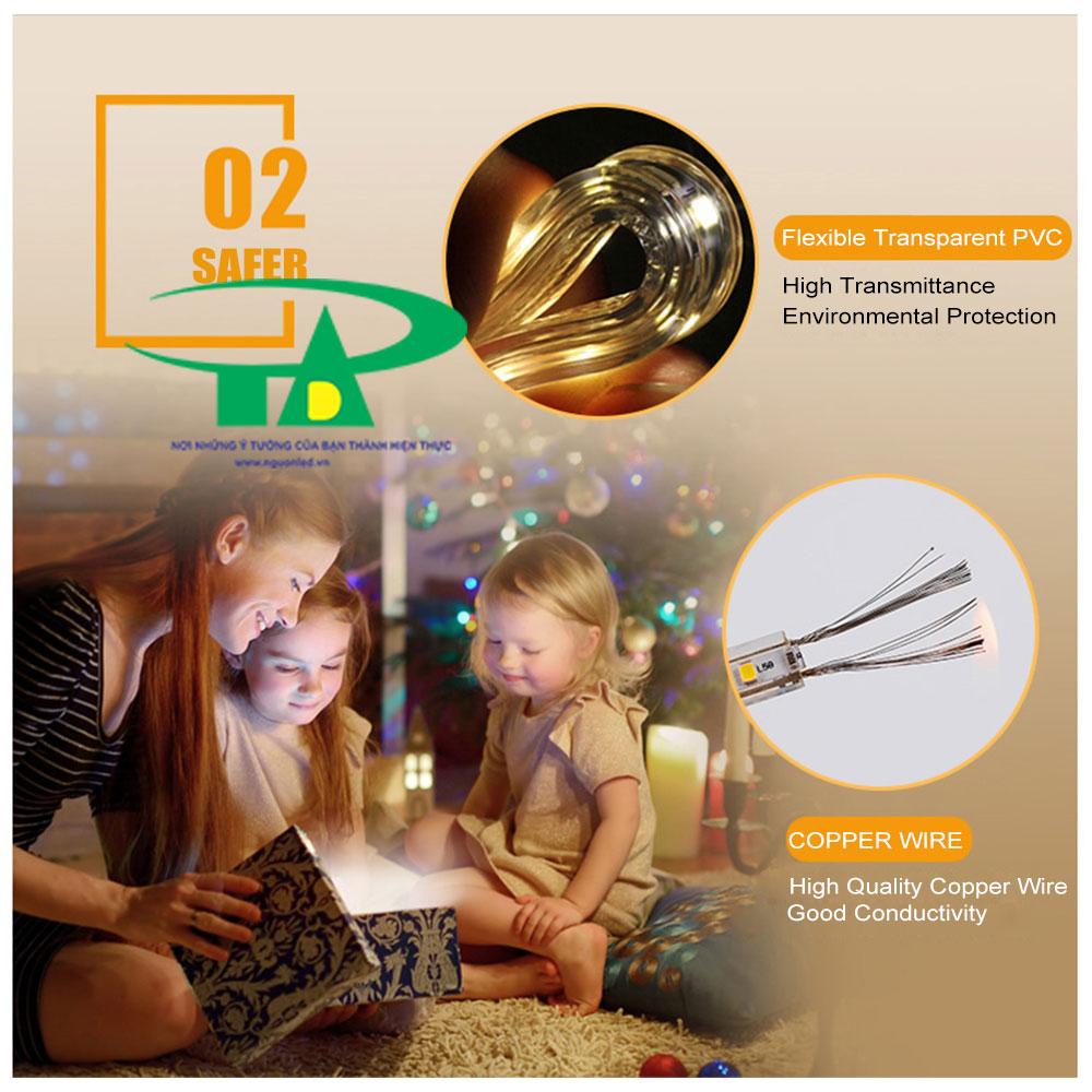 Ánh sáng của đèn led  dễ chịu, tốt cho mắt, làm cho cuộc sống của bạn lung linh đầy màu sắc, cảm giác thoải mái