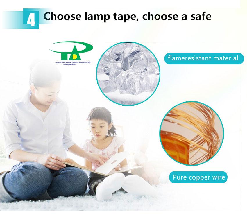 DÙng đèn led đây để chiếu sáng nội thất, ánh sáng dễ chịu tốt cho mắt