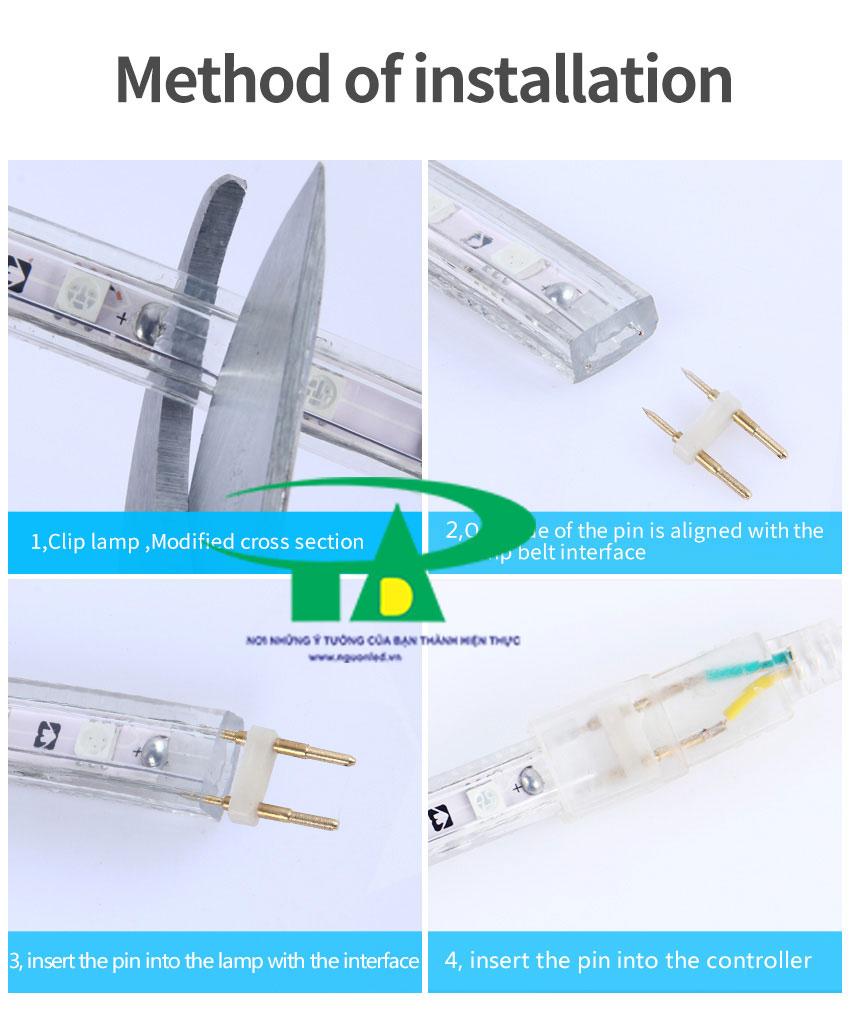 Cách cắt led dây 5050 cuộn 100m và cách đấu nối các ghim led đúng cách, không bị cháy led