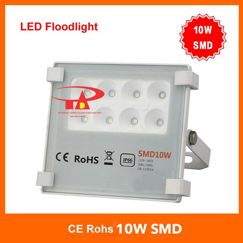 Đèn pha led 10W SMD 3030 loại tốt, giá rẻ, chất lượng, dùng chiếu sáng ngoài trời tại nguonled.vn