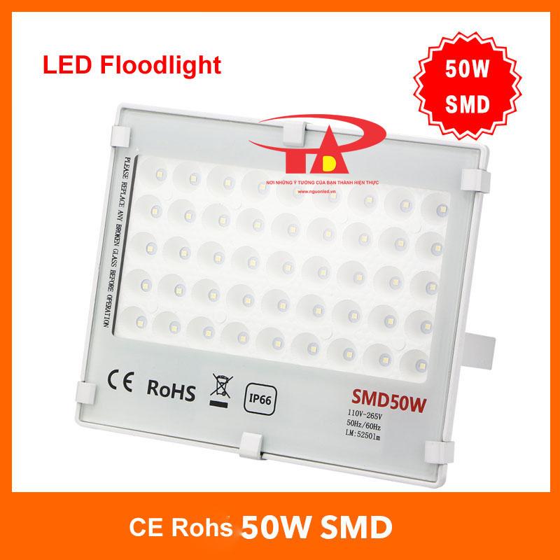 Đèn pha led 50W SMD 3030 loại tốt, giá rẻ, chất lượng, dùng chiếu sáng ngoài trời tại nguonled.vn