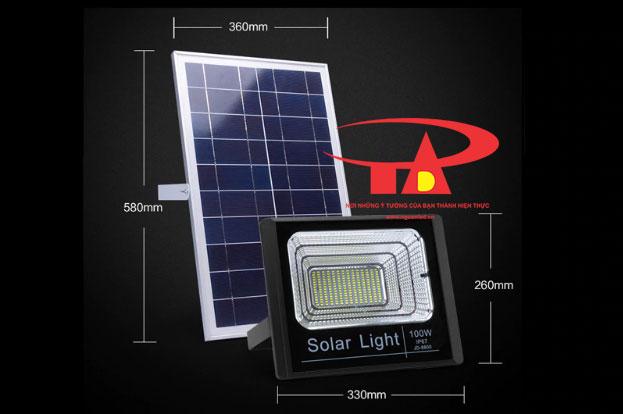 đèn led pha NLMT 100w thắp sáng ngõ hẻm loại tốt